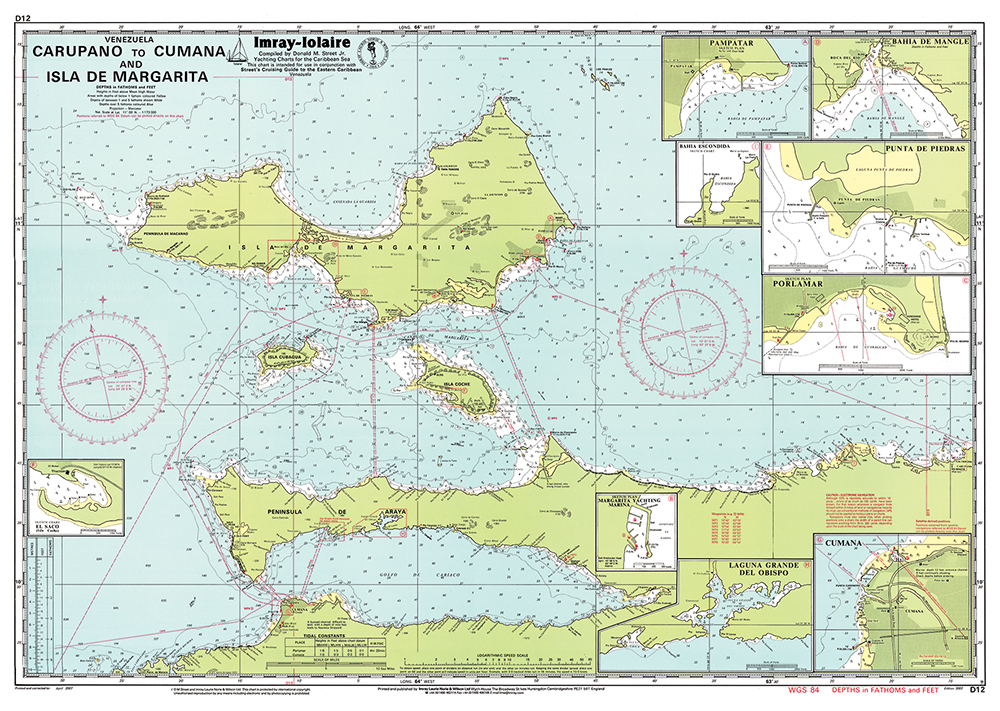 Imray Caribbean Chart D12 Carupano to Cumana and Isla de Margarita