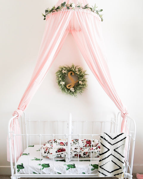 A Child's Nook Bed Canopy Light Pink