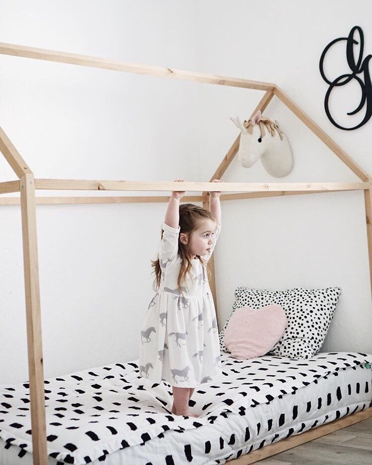 House Bed Frame: Montesssori Style Play House Frame Floor Bed ...