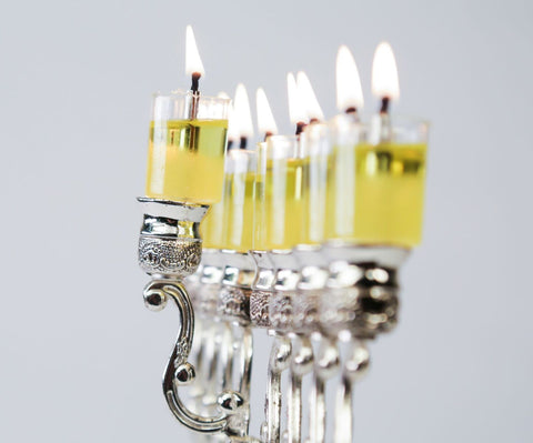 Menorah Prepaired Olive Oil Cups