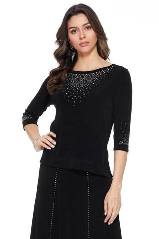 AY New Image Top with Rhinestones- 134AY-Q-R-R077