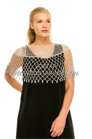 Beaded Crochet Poncho-201