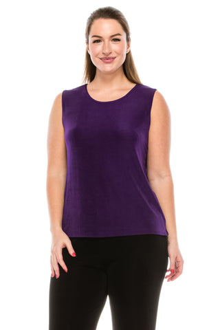 Jostar Acetate Vented Tank Top Sleeveless, Plus - 210AY-TX