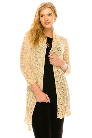 Cardigan Open Stitch -22115