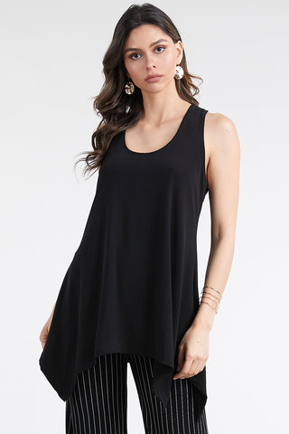 HIT Solid Side Drop Tank Tunic, Plus size-230HT-TX