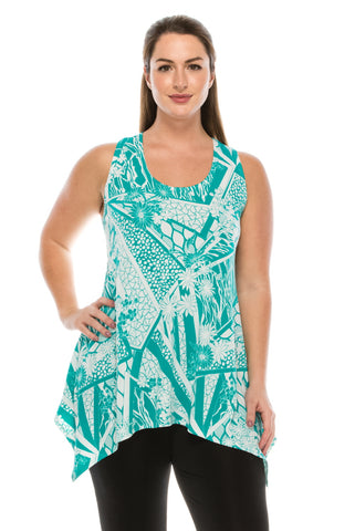 HIT Print Side Drop Tank Tunic-230HT-TP-W106