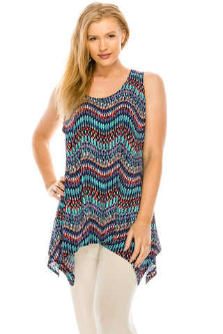 HIT Print Side Drop Tank Tunic-230HT-TP-W191
