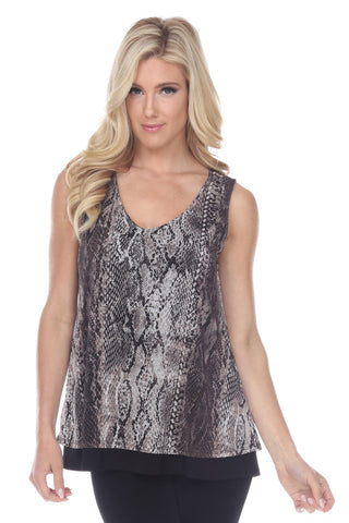 Mesh Romance Layer Tank-252MR-TPC-W238