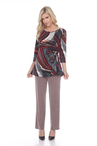 HIT Side Tie Tunic in Print-357HT-QXP-W255