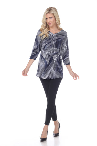 HIT Side Tie Tunic in Print-357HT-QXP-W260