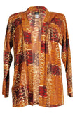 Jostar Acetate Drape Long Sleeves Jacket Long Sleeve, Print - 400AY-LP