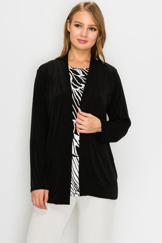 Jostar Stretchy Drape Jacket Long Sleeve, Plus - 400BN-LX