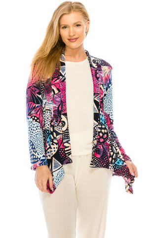 Jostar HIT Mid-cut Jacket Long Sleeve Print, Plus size - 428HT-LXP-W204