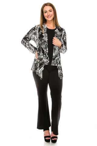 Jostar HIT Mid-cut Jacket Long Sleeve, Print - 428HT-LP-W856