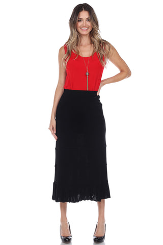 Jostar Acetate Tier Skirt - 608AY