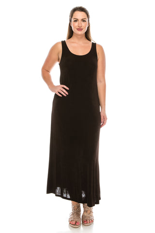 Jostar Acetate Long Tank Dress in Plus Size- 700AY-TX