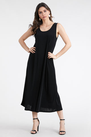 BNS Long Solid Tank Dress-700BN-T