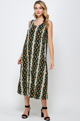 BNS Print Long Tank Dress - 700BN-TP-W290