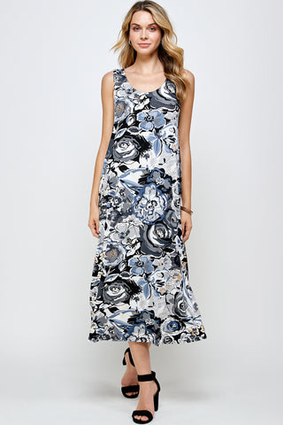 BNS Print Long Tank Dress - 700BN-TP-W293