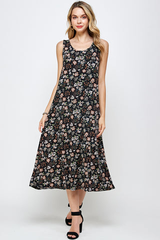 BNS Print Long Tank Dress - 700BN-TP-W296