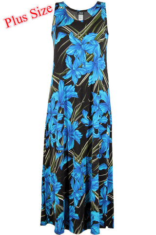 BNS Print Long Tank Dress, Plus size - 700BN-TXP-W683