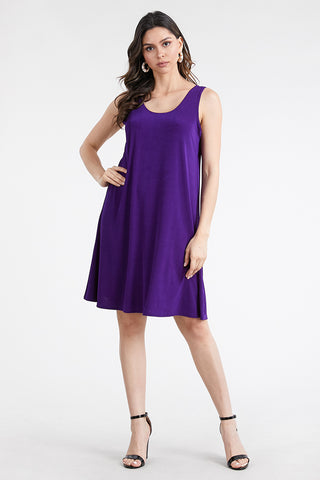 BNS Solid Short Tank Dress-703BN-T