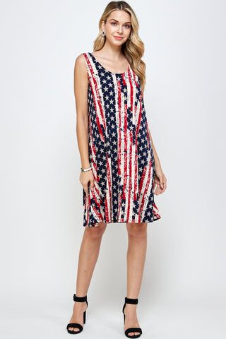 ITY Missy Print Tank Dress,Sleeveless-703HT-TP-W297