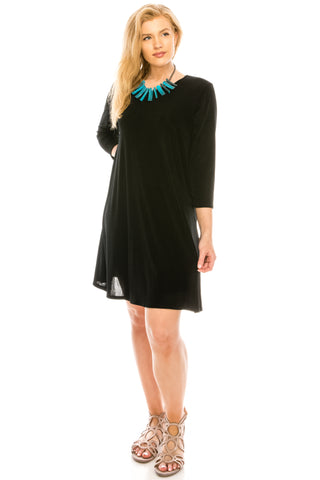 BNS Missy Dress with Quarter Sleeve in Plus Size-704BN-QX