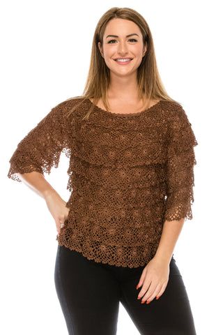 Crochet Quarter Sleeve Top