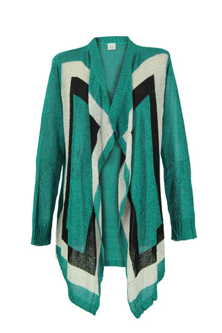 Color Block Cardigan- J004