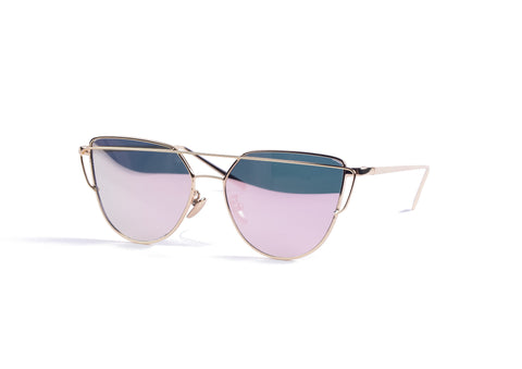 Gold Trim Sunglasses - Grey