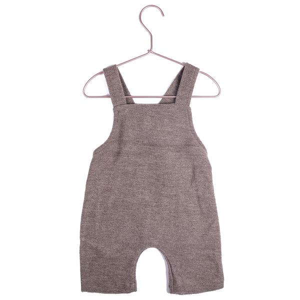 Cotton Short Romper - Taupe