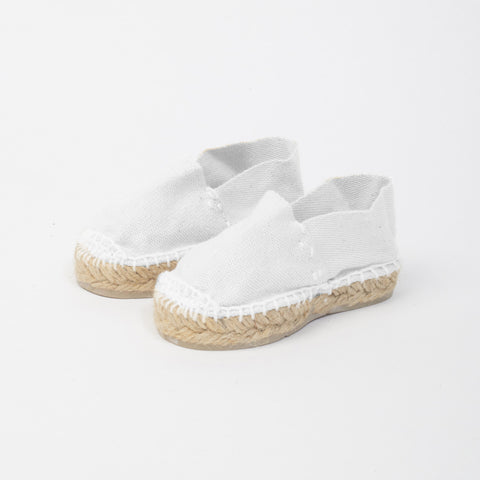 Canvas Baby Espadrilles - White