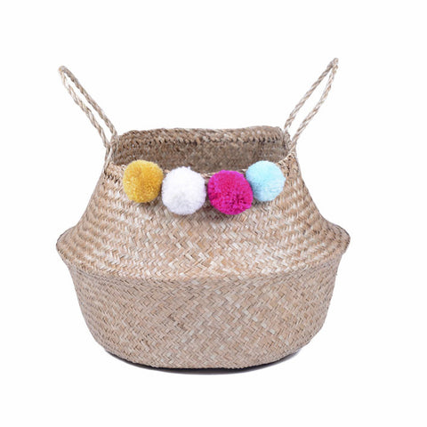Pom Pom Belly Basket - Easter