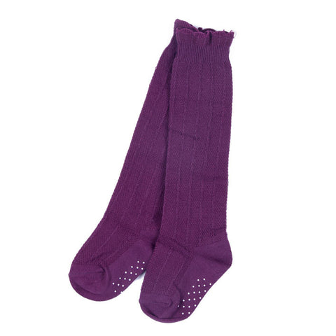 Knee Socks- Plum