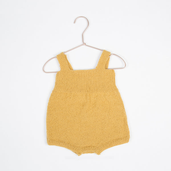Hand Knit Alpaca Romper - Honey