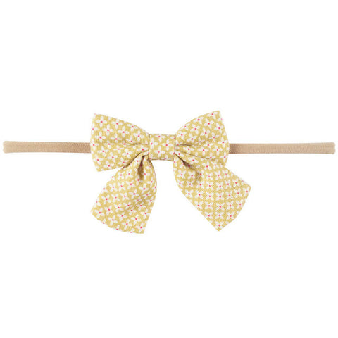 Mini Bow Headband - Ditsy Print