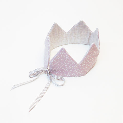 Reversible Dress Up Crown - Mauve Birds