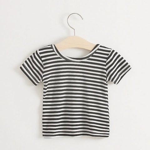 Scoop Back Stripe Tee