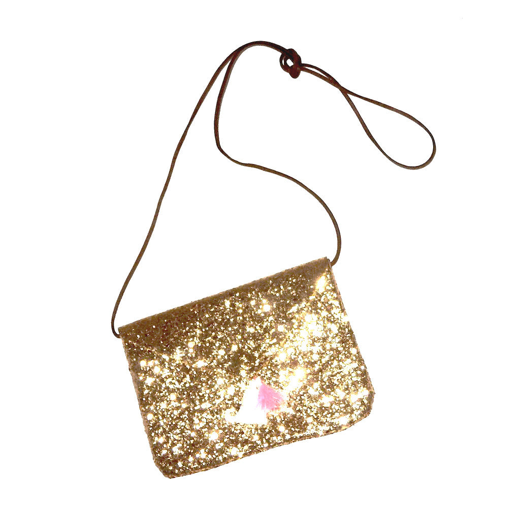 Glitter Tassel Bag - Gold