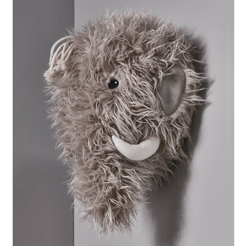 Woolly Wall Mounted Mammoth Decoration
