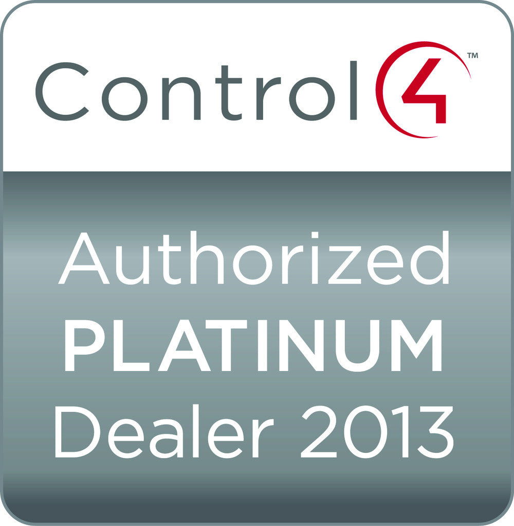 Control4 Awards Yana Platinum Dealer status again for 2013!