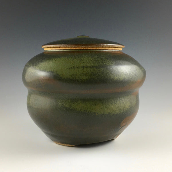 Lee Persell stoneware covered jar