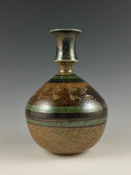 Kate & Jere Huffman narrow necked vase