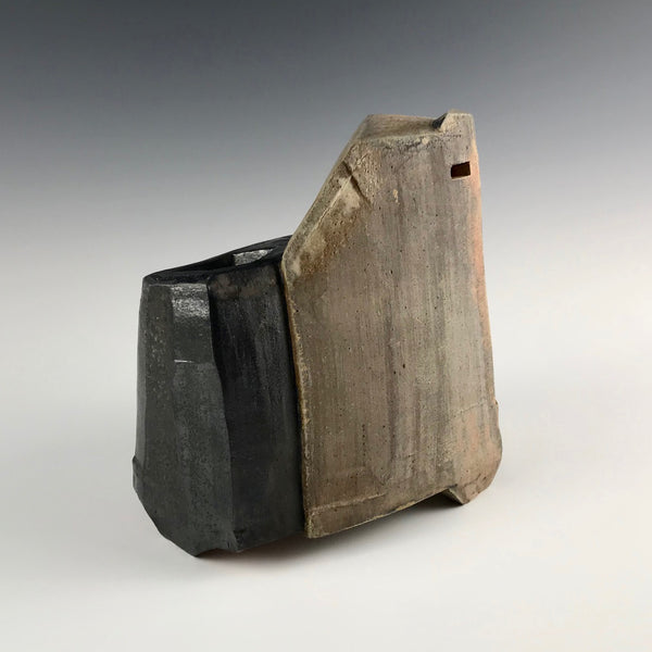 Bill Gossman block form sculptural vase