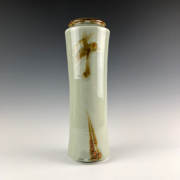 Kevin Caufield tall porcelain vase