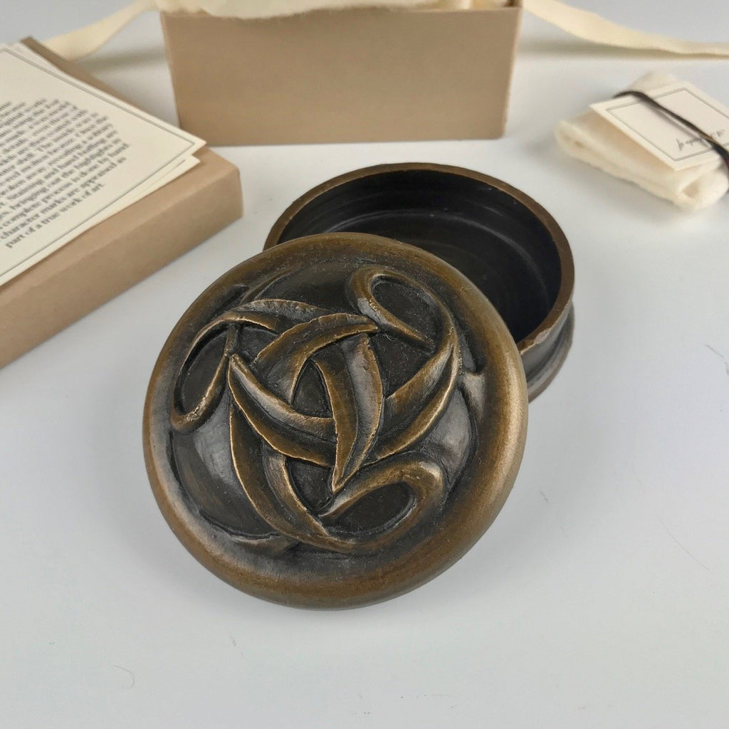 Michelle Kaisersatt bronze keepsake box, Connected