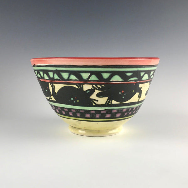 Martye Allen medium bowl with turtles