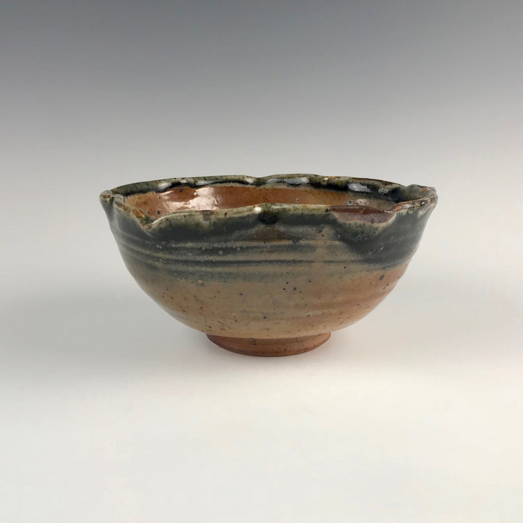 Seth Cardew bowl, reticulated rim
