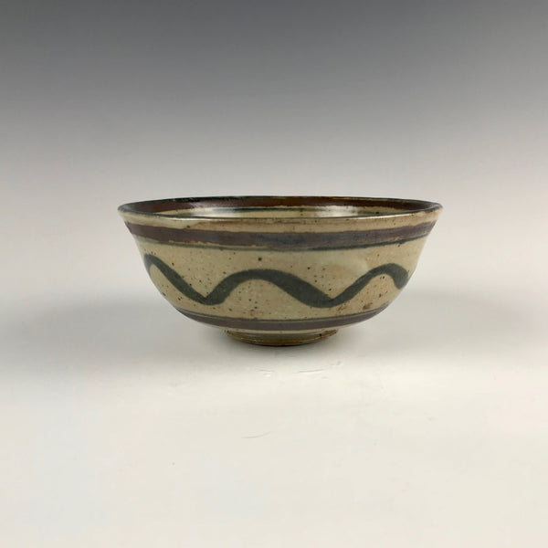 Seth Cardew bowl, wave design